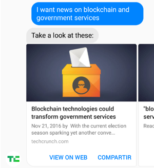 I want news on blockchain and government services