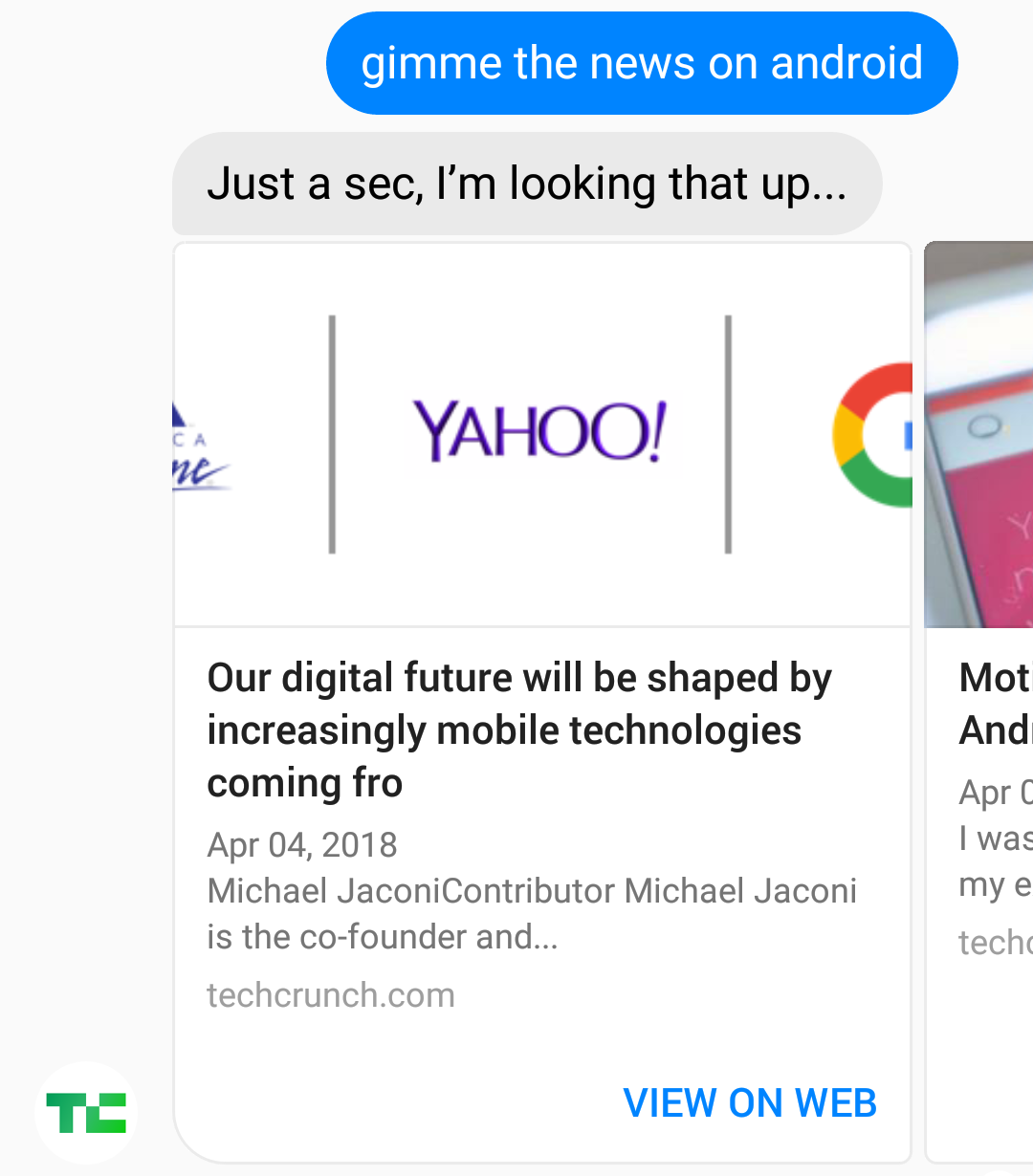 gimme the news on android