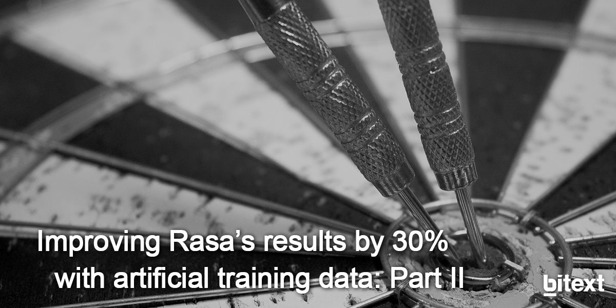 Improving Rasa's results by 30% with artificial training